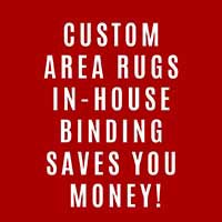 Save on Custom Area Rug Binding during our Storewide Sale-a-bration at Class Carpet in Levittown!