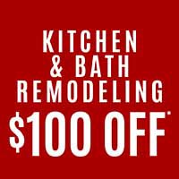 Save $100 on Tile & Stone Kitchen/Bath Remodeling during our Storewide Sale-a-bration at Class Carpet in Levittown!
