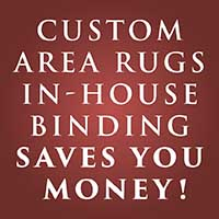 Anniversary Flooring Sale - Going On Now! - Custom Area In-House Binding Saves you money!