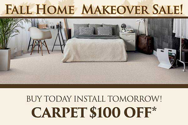 Get $100 off carpet during our flooring sale at Class Carpet, Floor & Home